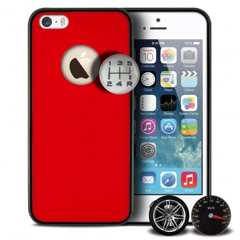 Qdos® Custom Buttons Case Red for iPhone 5/5S