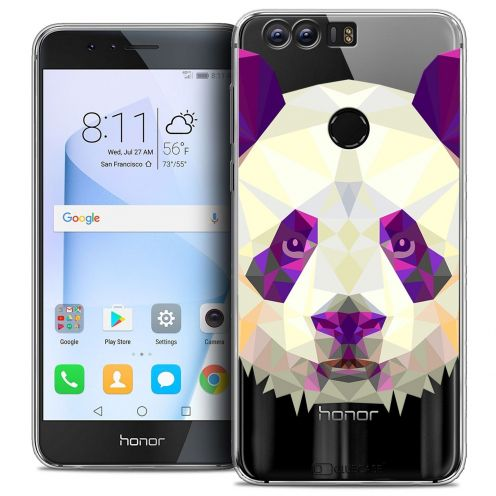 "Coque Crystal Gel Huawei Honor 8 (5.2"") Extra Fine Polygon Animals - Panda"