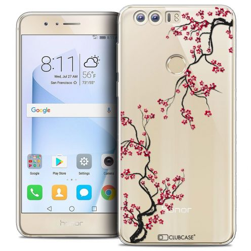 "Coque Crystal Gel Huawei Honor 8 (5.2"") Extra Fine Summer - Sakura"