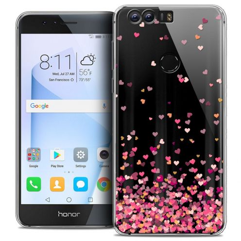 "Coque Crystal Gel Huawei Honor 8 (5.2"") Extra Fine Sweetie - Heart Flakes"