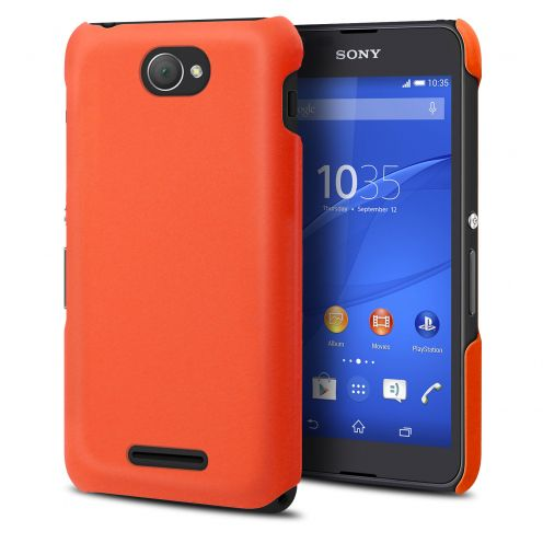 Muvit Soft Touch case for XPeria E4 - Mandarin