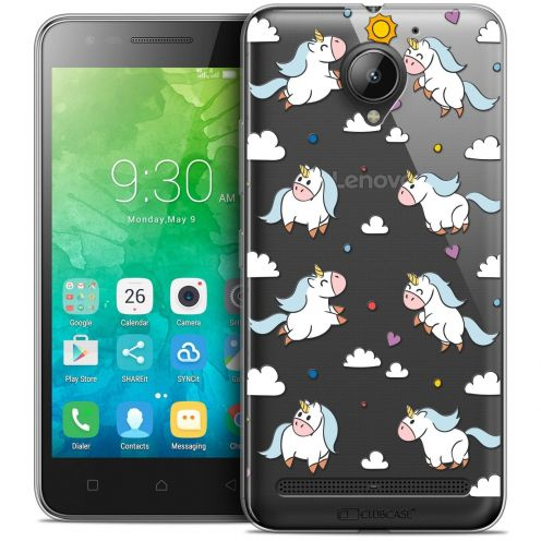 "Coque Crystal Gel Lenovo C2 K10A40 (5"") Extra Fine Fantasia - Licorne In the Sky"