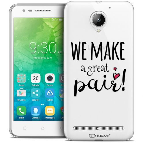 """Coque Crystal Gel Lenovo C2 K10A40 (5"""") Extra Fine Love - We Make Great Pair"""