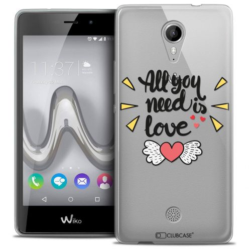 "Coque Crystal Gel Wiko Tommy (5"") Extra Fine Love - All U Need Is"