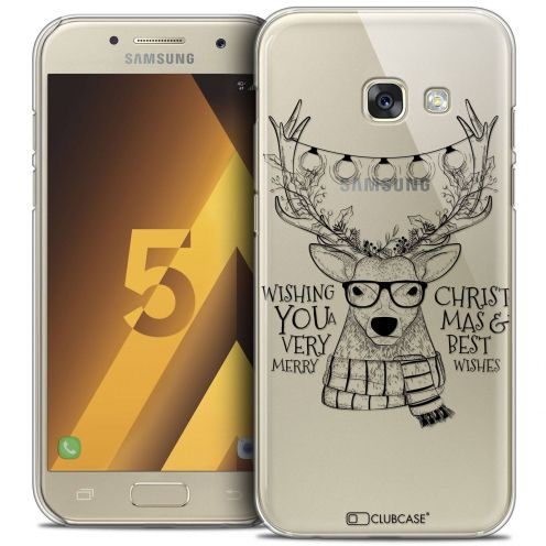 Coque Crystal Samsung Galaxy A5 2017 (A520) Extra Fine Noël 2016 - Cerf Hipster