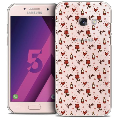 Extra Slim Crystal Samsung Galaxy A5 2017 (A520) Case Love Bougies et Roses