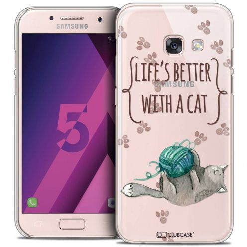 Extra Slim Crystal Samsung Galaxy A5 2017 (A520) Case Quote Life's Better With a Cat