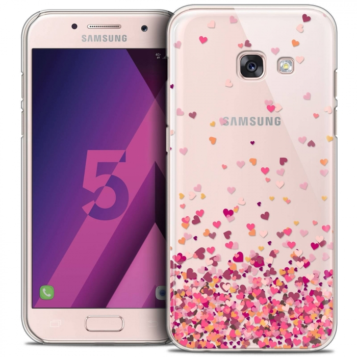 on sale 15b54 9adc7 Extra Slim Crystal Samsung Galaxy A5 2017 (A520) Case Sweetie Heart Flakes