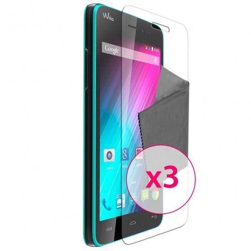 Clubcase ® Ultra Clear HD screen protector for Wiko Lenny 3-Pack