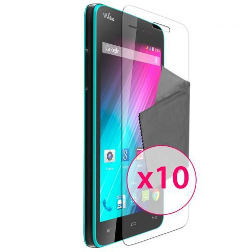 Clubcase ® Ultra Clear HD screen protector for Wiko Lenny 10-Pack