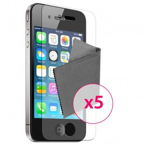 Clubcase ® Ultra Clear HQ screen protector for iPhone 4/4S 5-Pack
