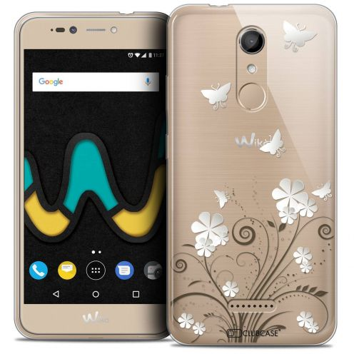 """Coque Crystal Gel Wiko U Pulse (5.5"""") Extra Fine Summer - Papillons"""