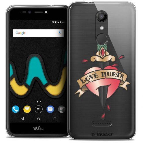 "Coque Crystal Gel Wiko U Pulse LITE (5.2"") Extra Fine Tatoo Lover - Love Hurts"