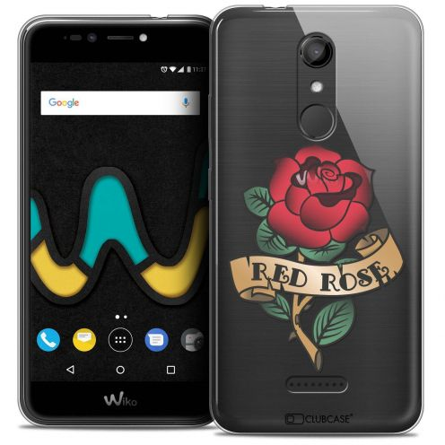 """Coque Crystal Gel Wiko U Pulse LITE (5.2"""") Extra Fine Tatoo Lover - Red Rose"""