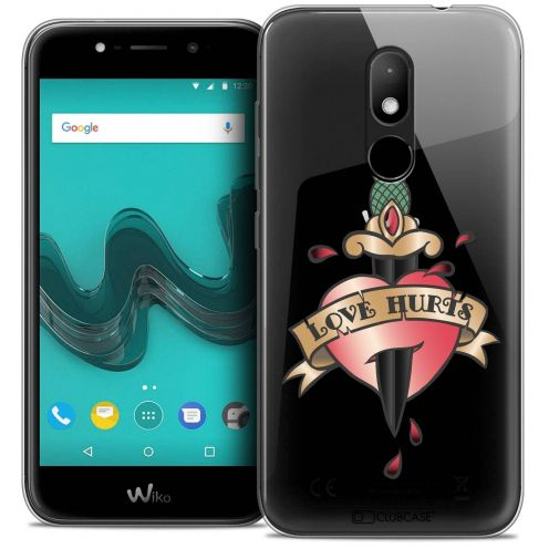 "Coque Crystal Gel Wiko Wim LITE (5.0"") Extra Fine Tatoo Lover - Love Hurts"