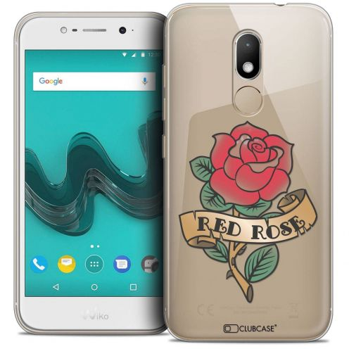 "Coque Crystal Gel Wiko Wim LITE (5.0"") Extra Fine Tatoo Lover - Red Rose"