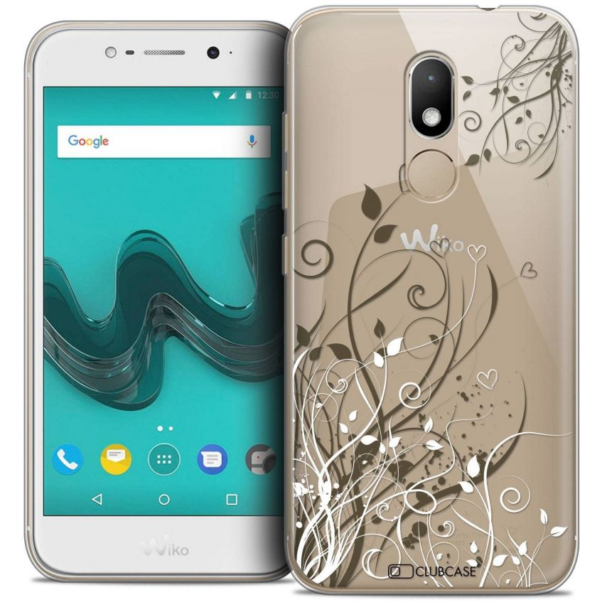 "Coque Crystal Gel Wiko Wim LITE (5.0"") Extra Fine Love - Hearts Flowers"