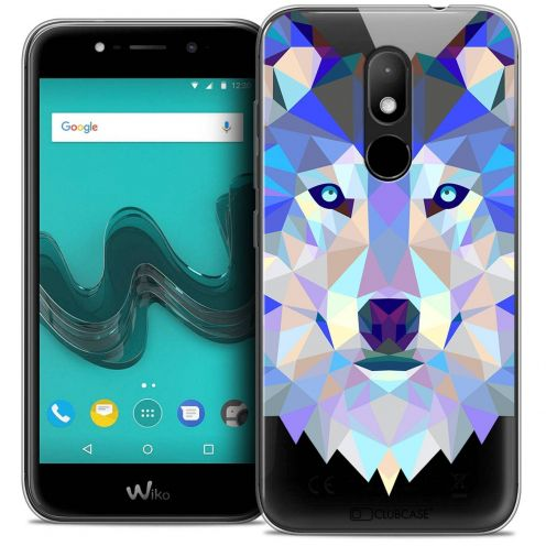"Coque Crystal Gel Wiko Wim LITE (5.0"") Extra Fine Polygon Animals - Loup"