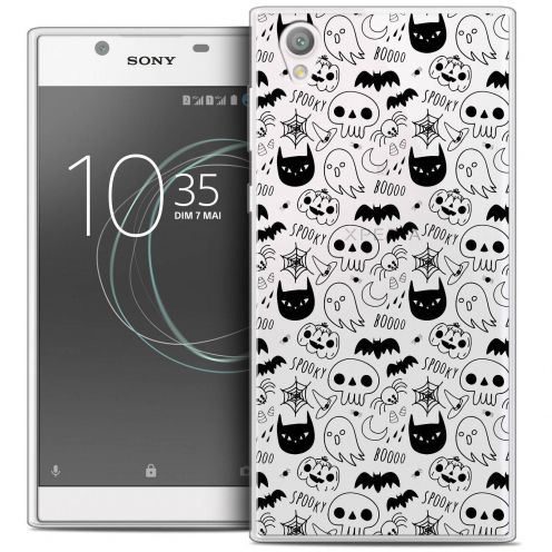 "Extra Slim Crystal Gel Sony Xperia L1 (5.5"") Case Halloween Spooky"