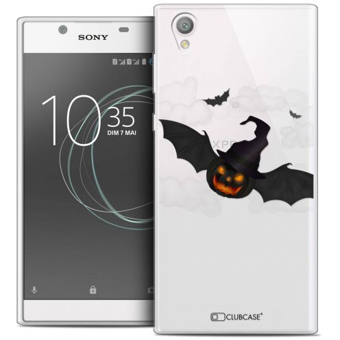 """Coque Crystal Gel Sony Xperia L1 (5.5"""") Extra Fine Halloween - Chauve Citrouille"""