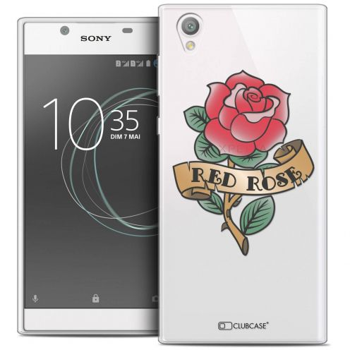 """Coque Crystal Gel Sony Xperia L1 (5.5"""") Extra Fine Tatoo Lover - Red Rose"""