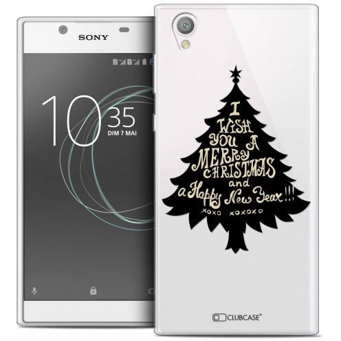 "Extra Slim Crystal Gel Sony Xperia L1 (5.5"") Case Noël 2017 XOXO Tree"