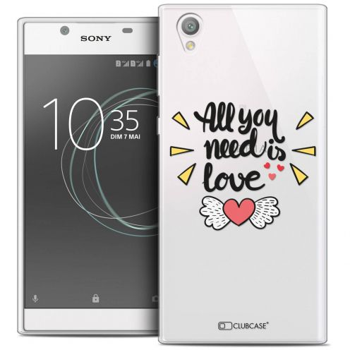"Extra Slim Crystal Gel Sony Xperia L1 (5.5"") Case Love All U Need Is"