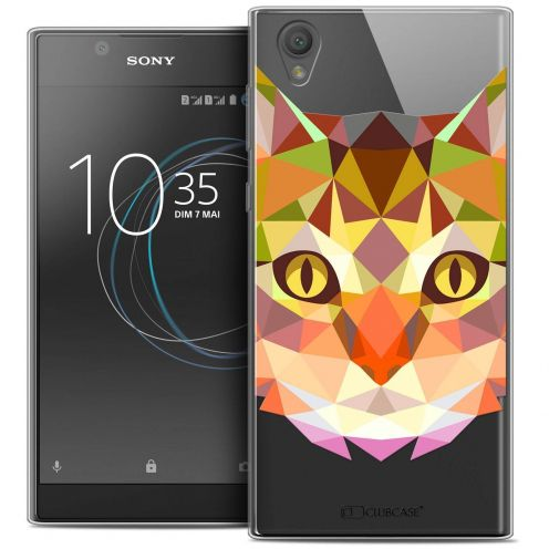 """Coque Crystal Gel Sony Xperia L1 (5.5"""") Extra Fine Polygon Animals - Chat"""