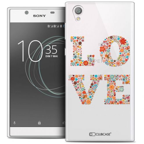 "Extra Slim Crystal Gel Sony Xperia L1 (5.5"") Case Summer Love Flowers"