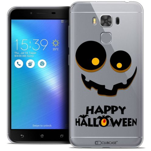 "Coque Crystal Gel Asus Zenfone 3 Max Plus ZC553KL (5.5"") Extra Fine Halloween - Happy"
