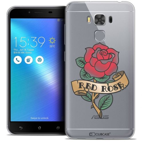 "Coque Crystal Gel Asus Zenfone 3 Max Plus ZC553KL (5.5"") Extra Fine Tatoo Lover - Red Rose"