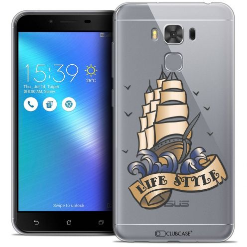 "Coque Crystal Gel Asus Zenfone 3 Max Plus ZC553KL (5.5"") Extra Fine Tatoo Lover - Life Style"