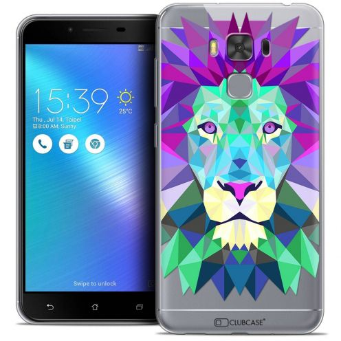 "Coque Crystal Gel Asus Zenfone 3 Max Plus ZC553KL (5.5"") Extra Fine Polygon Animals - Lion"