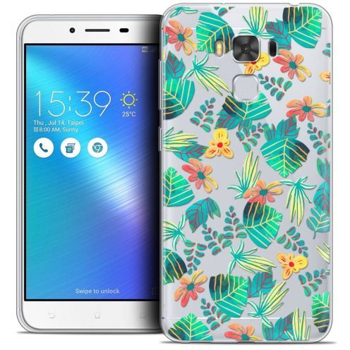 "Coque Crystal Gel Asus Zenfone 3 Max Plus ZC553KL (5.5"") Extra Fine Spring - Tropical"