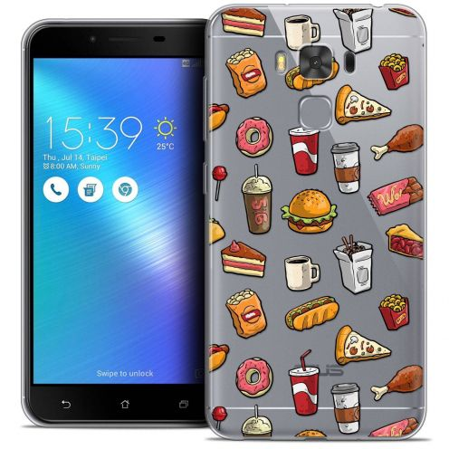 "Coque Crystal Gel Asus Zenfone 3 Max Plus ZC553KL (5.5"") Extra Fine Foodie - Fast Food"