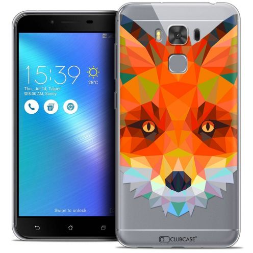 "Coque Crystal Gel Asus Zenfone 3 Max Plus ZC553KL (5.5"") Extra Fine Polygon Animals - Renard"