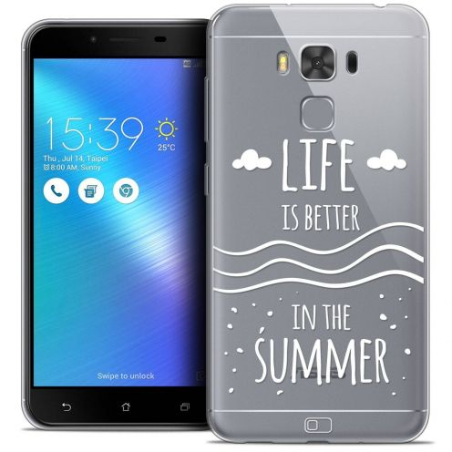 "Coque Crystal Gel Asus Zenfone 3 Max Plus ZC553KL (5.5"") Extra Fine Summer - Life's Better"