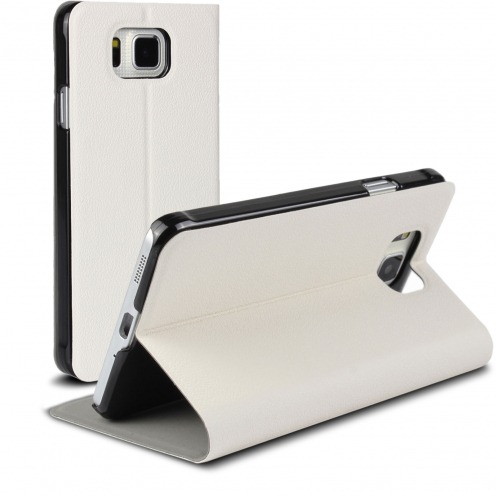 Slim Folio Smart Magnet Case for Galaxy Alpha White