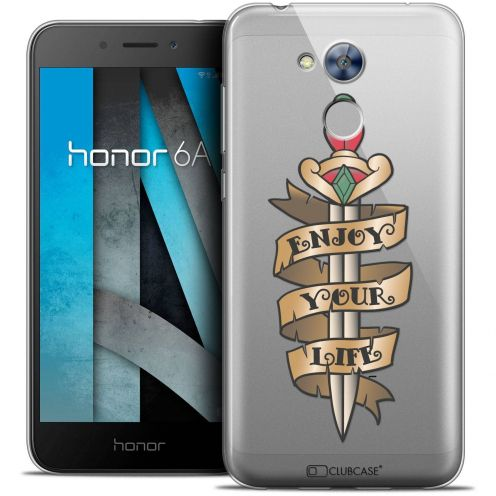 "Coque Crystal Gel Huawei Honor 6A (5"") Extra Fine Tatoo Lover - Enjoy Life"