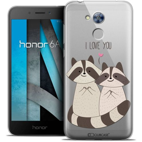 "Coque Crystal Gel Huawei Honor 6A (5"") Extra Fine Sweetie - Racoon Love"