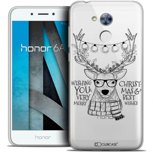 "Coque Crystal Gel Huawei Honor 6A (5"") Extra Fine Noël 2017 - Cerf Hipster"