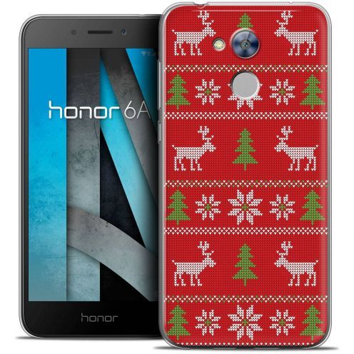 """Coque Crystal Gel Huawei Honor 6A (5"""") Extra Fine Noël 2017 - Couture Rouge"""