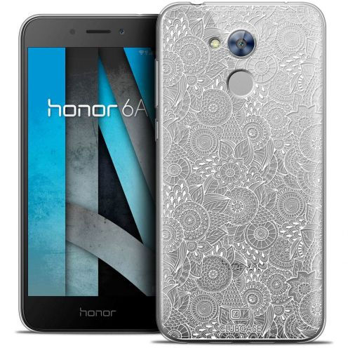 """Coque Crystal Gel Huawei Honor 6A (5"""") Extra Fine Dentelle Florale - Blanc"""