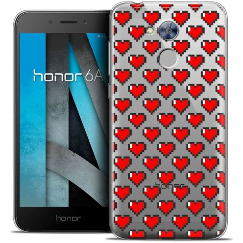 """Coque Crystal Gel Huawei Honor 6A (5"""") Extra Fine Love - Pixel Art"""