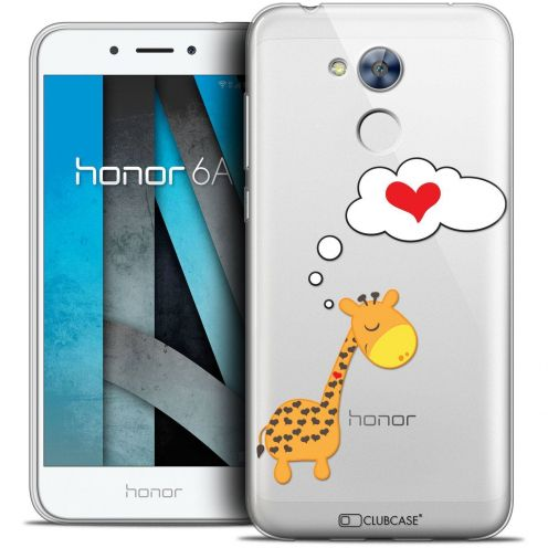 """Coque Crystal Gel Huawei Honor 6A (5"""") Extra Fine Love - Girafe Amoureuse"""