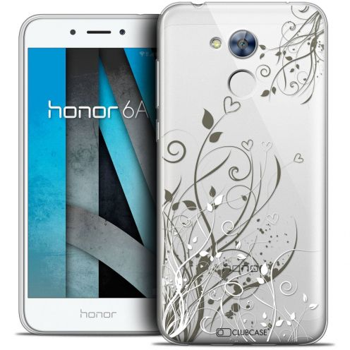 "Coque Crystal Gel Huawei Honor 6A (5"") Extra Fine Love - Hearts Flowers"