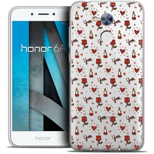 """Coque Crystal Gel Huawei Honor 6A (5"""") Extra Fine Love - Bougies et Roses"""