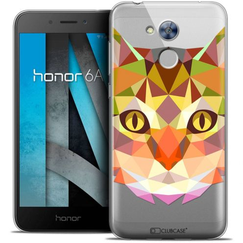 """Coque Crystal Gel Huawei Honor 6A (5"""") Extra Fine Polygon Animals - Chat"""