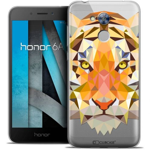 "Coque Crystal Gel Huawei Honor 6A (5"") Extra Fine Polygon Animals - Tigre"