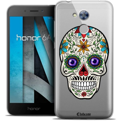 """Coque Crystal Gel Huawei Honor 6A (5"""") Extra Fine Skull - Maria's Flower"""